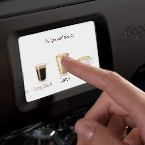 SAGE SES880 the Barista Touch, Machine à Expresso avec Broyeur et écran tactile, Noir Mat