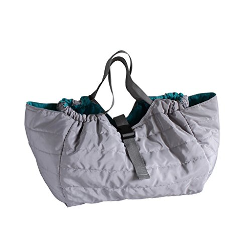 Time Concept Quilted Shoulder Bag - Gray - Single Strap Closure, Lightweight Travel Tote, Approx. H13 x W16 x L12