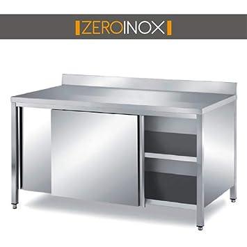 ZeroInox Mesa armadiato con Puertas correderas & - tartera ...