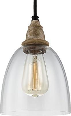 Feiss P1394DFW/DWZ Matrimonio Glass Pendant Lighting, Brown
