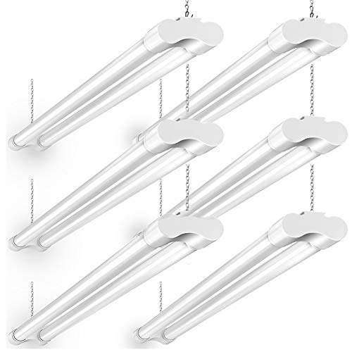 4FT LED Shop Lights for Garage: BBounder 36W 3600 Lumens 5000k 82+ CRI for Garage 64 Watt Fluorescent Equivalent- 6pack