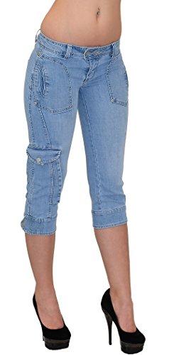 Pantalon Jeans Pantacourt H11 Femme Jean by Capri Femmes Typ4 pour tex dechir AxCqwanXTg