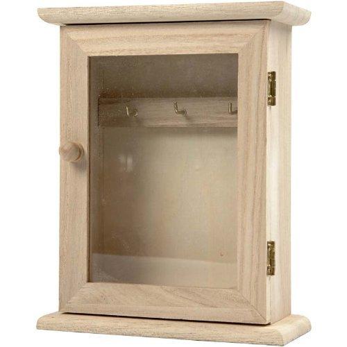 Merveilleux Amazon.com: Amatola Kei 1 Piece Wooden Key Cabinet With Glass Panel Door  Metal Key Hooks By Amatola Kei: Beauty