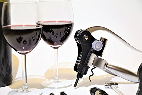 Cheap Carpe Vinum-Rabbit Style Elegant Corkscrew–Perfect Gift Set From Decorative Wood,The Set That Makes You A Professional Include Opener With 9 Accessories For Wine, 2 Vaccum Stoppers,Silver