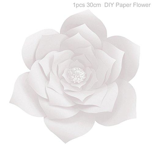 20Cm 30Cm Artificial Paper Flowers DIY Wedding Backdrop Wall Decor Wedding Event Party Decoration Valentines Day Decor White 30cm