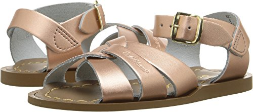 (Salt Water Sandals by HOY Shoe Girls' Salt Water Original Flat Sandal, Rose Gold, 4 M US Toddler )