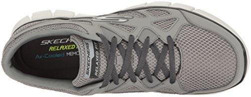 Skechers Equalizer 2.0-Groy, Chaussures de Running Homme Gris (Grey/Charcoal)