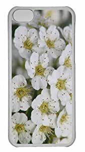 Customized iphone 5C PC Transparent Case - Blooming Flowers 3 Personalized Cover
