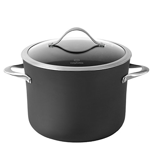 Calphalon Contemporary Hard-Anodized Aluminum Nonstick Cookware, Stock Pot, 8-quart, Black