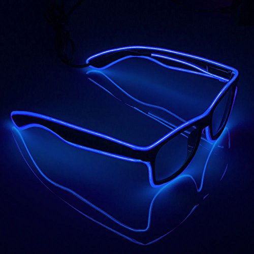 Fronnor El Wire Glow Sun Glasses Led DJ Bright Light Safety Light Up Multicolor Frame Voice Control Led Flashing Glasses
