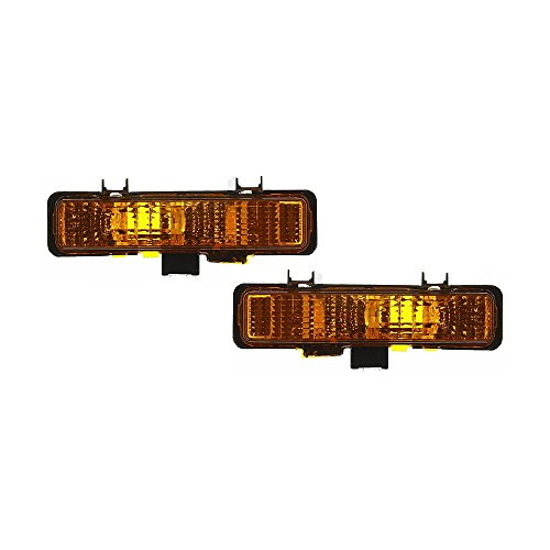 Turn Signal Light compatible with Chevrolet S10 Pickup 82-93 Set Of 2 (RH and LH) Lens and Housing On Bumper