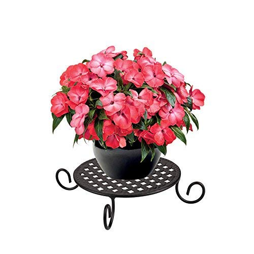 AISHN Metal Potted Plant Stand Floor Flower Pot Rack Round Iron Flower Planter Stand use for Indoor Outdoor
