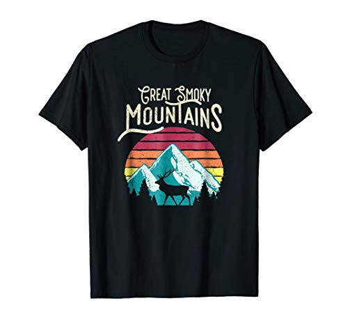 Retro Great Smoky Mountains National Park Elk T-shirt