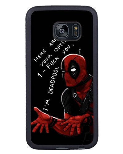 S7 Edge TPU Phone Case,Deadpool (3) Popular Gifts Case Cover for Samsung Galaxy S7 Edge (Black) - Onyx Telephone