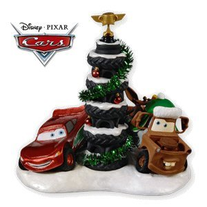 Disney Cars Christmas Decorations.Piston Cup Tire Tree Disney Cars 2010 Hallmark Ornament
