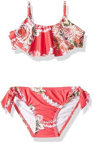 Seafolly Girls Ruffle Bandeau Bikini Swimsuit Set