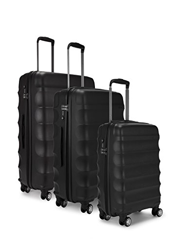 Antler Suitcase Juno, 4 Wheel Spinner, Set of 3, 79cm-110L, Black