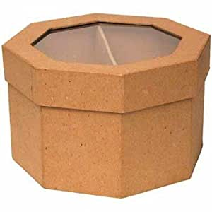 Octagon Shaped Paper Mache Box with See Thru Lids for Crafting, Storing and Creating