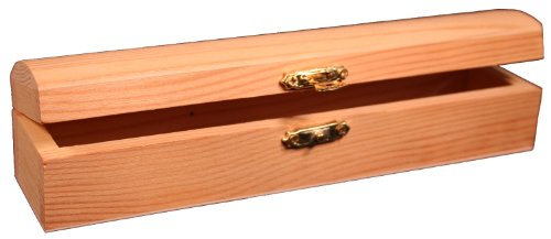 Creative Hobbies® Ready To Finish Wooden Pencil, Pen, Trinket Storage Box with Clasp Closure
