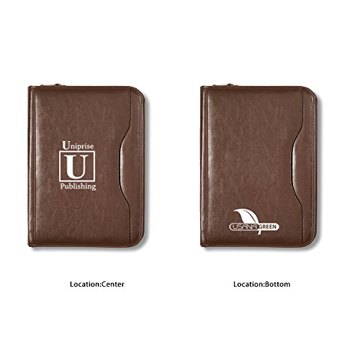 Deluxe Executive Vintage Leather Padfolio - 13 Quantity - $27.40 Each - BRANDED / DEBOSS PRINT with YOUR LOGO / CUSTOMIZED by Sunrise Identity