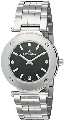 Grovana Women's 'Ladies Dressline' Swiss Quartz Stainless Steel Casual Watch, Color:Silver-Toned (Model: 5079-1137)