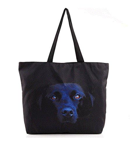 Borsa popolare calda del sacchetto di stampa di Black Labrador popolare 2017