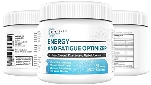 - Life Renew: All-Natural Energy Optimizer Supplement Powder - Absorbs Fast - Neuropathy and Nerve Damage Support - One Month Supply