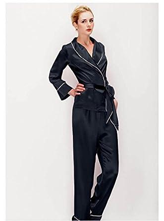 on sale 46603 bf196 Eleganter hochwertiger seiden Schlafanzug Seide Pyjama set ...