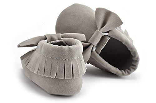 Summens Lauflernschuhe Krabbelschuhe Weiche Krabbelschuhe für Babys und Kleinkinder Grau