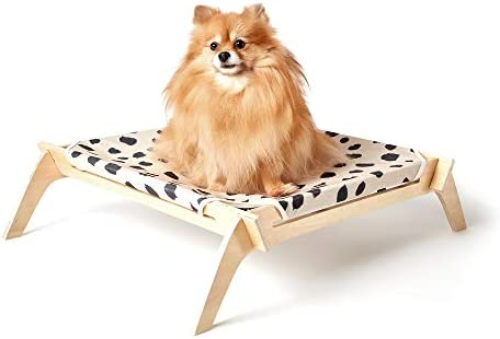 Primetime Petz Pet Lounge, Raised Indoor Pet Bed for Cats or Small Dogs, Reversible Fabric Hammock
