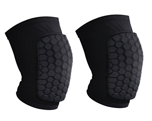 YF-36 Protective Compression Antislip Knee Short Sleeve With Honeycomb Crash Proof Pad - 1 Piece