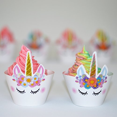 set of 24 premium sparkle unicorn cupcake wrappers cute unicorn