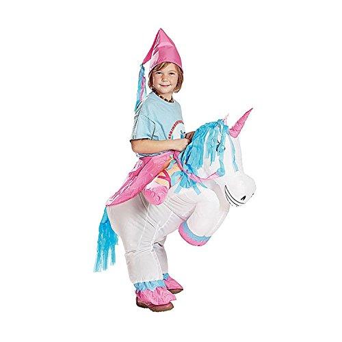 Maconaz kids Inflatable Unicorn Costume-Standard - Princess Riding A Unicorn Costume