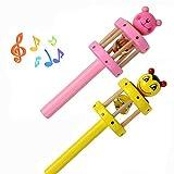 Dreaman Baby Toy Cartoon Animal Wooden Handbell Musical Developmental Instrument
