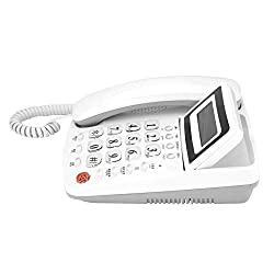 Corded Telephone,Desktop Wired Fixed Landline Phone with Caller ID Display/Predial/Cancel Number/Callback/Redial/Alarm Clock Function for Home/Office/Hotel