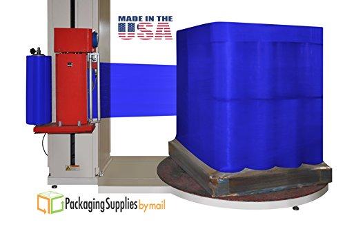 Stretch Wrap Dark Blue Color Cast Machine Film 20'' x 5000 Feet x 63 Gauge 1 Roll by PackagingSuppliesByMail