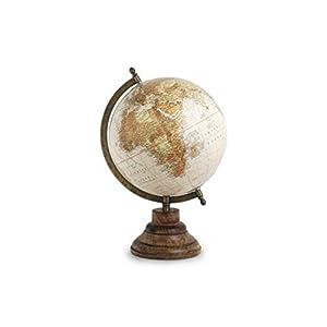 CAPRILO Globo Terráqueo Decorativo Mapamundi World Map. Papelería. Regalos Originales. Oficina. 32.5 x 20 x 22 cm.