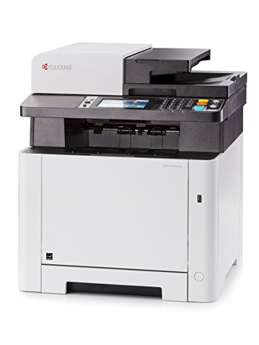 A4 Colour Multi Function Printer (Kyocera 1102R72US0 Model ECOSYS M5526CDW Monochrome Multifunctional Printer - Up to 27 B&W PPM and 27 Color PPM in A4 - Print, Scan, Copy and Fax - Resolution 1200 x 1200 Dpi)