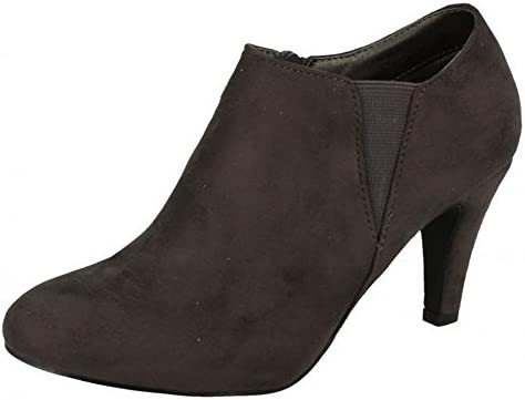 Details about  /SALE LADIES ANNE MICHELLE ZIP HEEL SMART WORK POINTED ANKLE BOOTS SIZE F50373