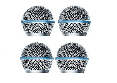 FidgetGear 4 PCS Microphone Head Ball Grill for Shure Beta 58 microphone Grille replacement