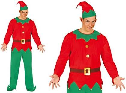 Disfraz de elfo de hombre talla única L helper Santa Claus: Amazon ...