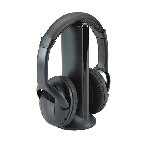 Wireless Headphones with Built-In FM Radio (Black)
