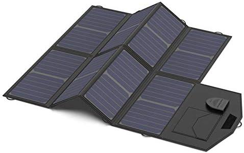 ラップトップ、タブレットGPS iPhoneアプリAndroid用18VのUSB出力キャンプ旅行充電器付き40W高効率折り畳み式のソーラーパネル充電器