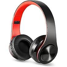 Bluetooth Headphones Over Ear, Myguru Bluetooth 4.2 Wireless Headphone Headset with Microphone for Cellphones Laptop (Red)