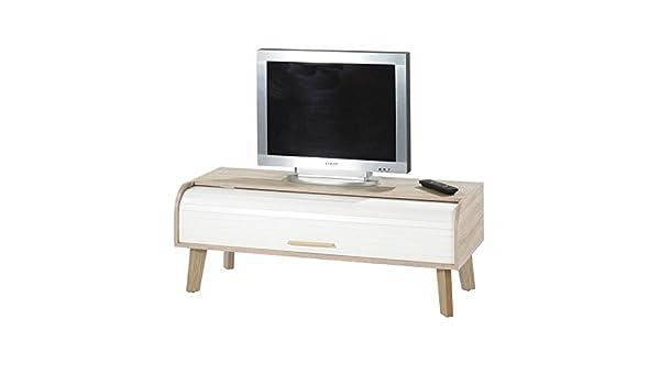 Simmob HAPPY220CCB - Mueble para televisor Vintage con Cortina, Paneles de Fibra de Madera, 41,6: Amazon.es: Juguetes y juegos