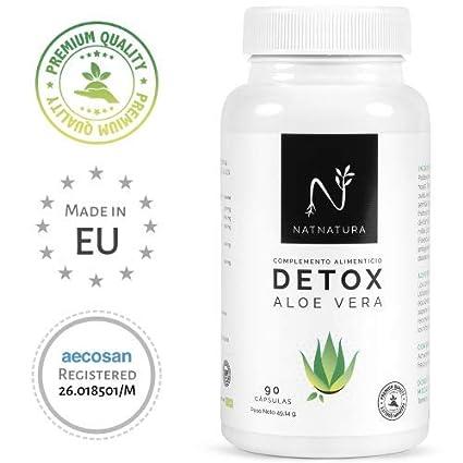 Detox Aloe Vera+Hinojo. Plan detox adelgazante natural para eliminar toxinas y limpieza de