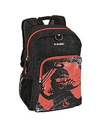 Lego Kids' Ninjago Red Ninja Heritage Classic Backpack, Black, One Size