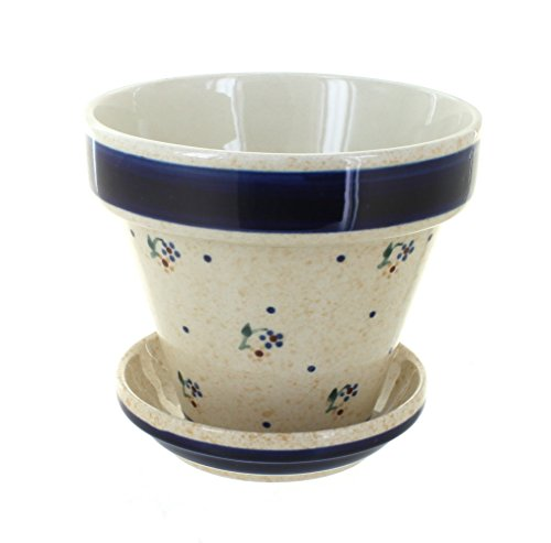 Pot Polish Flower (Polish Pottery Country Meadow Small Flower Pot)