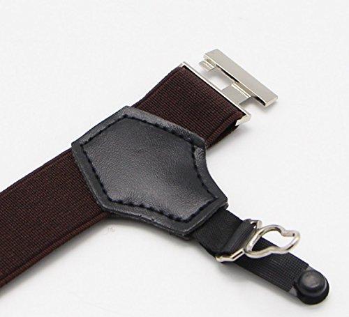 JAIFEI Premium Sock Garters - 2-Pack Double Sturdy Clip Sock Suspenders For Silk Socks (Coffee) by JAIFEI (Image #3)