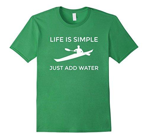 Men's Sea Kayak T SHIRT for ocean, flat water, lake, touring kayak Medium Grass